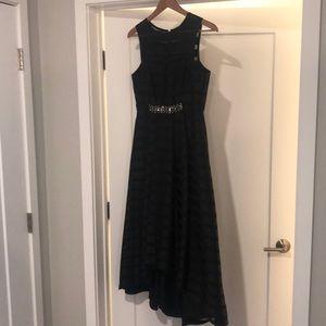 Shoshanna high low black dress.